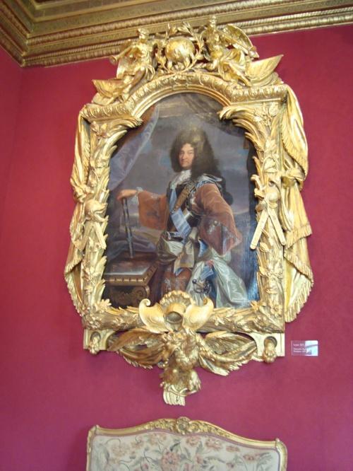 Aposento Luis XIV, criado para a visita do monarca